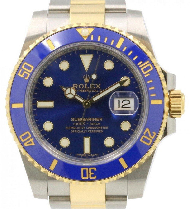 Rolex Submariner Date Yellow Gold/Steel Blue Dial & Ceramic Bezel Two-Tone Oyster Bracelet 116613LB - PRE-OWNED