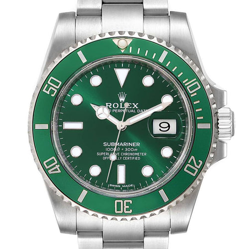 Rolex Submariner Hulk Green Dial Bezel Men's Watch 116610LV PRE-OWNED