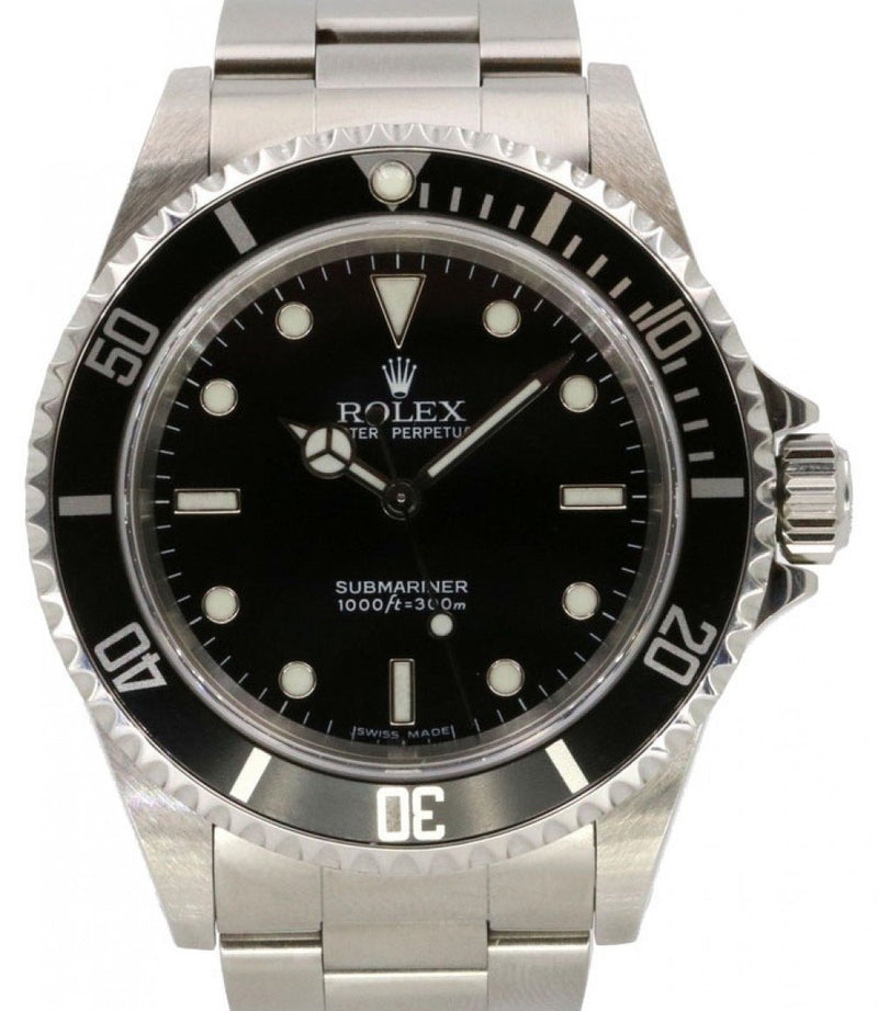 Rolex Submariner No Date Stainless Steel Black Dial & Aluminum Bezel Oyster Bracelet 14060 - PRE-OWNED