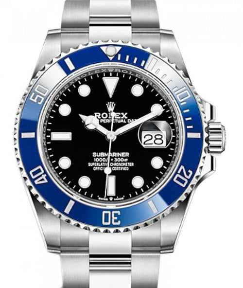 Men's Rolex Submariner Date White Gold Black Dial & Ceramic Bezel Oyster Bracelet 126619LB - BRAND NEW - Global Timez