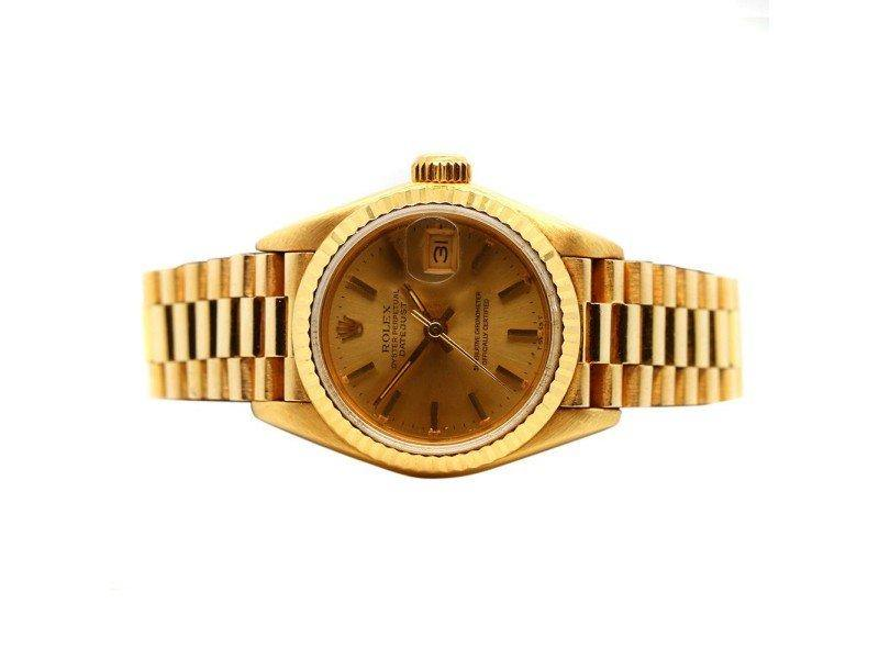 Ladies Rolex 18K Yellow Gold DateJust 28mm Watch PRE-OWNED
