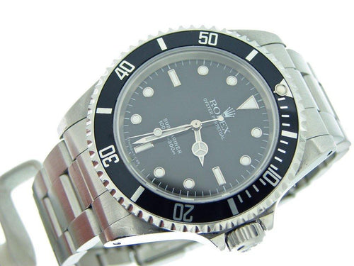 Men's Rolex Stainless Steel Submariner Black 14060 PRE-OWNED - Global Timez