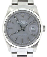 Men's Rolex Stainless Steel Datejust Gray 16030 PRE-OWNED
