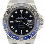 Men's Rolex Stainless Steel GMT Master II Black & Blue Batman 116710 PRE-OWNED