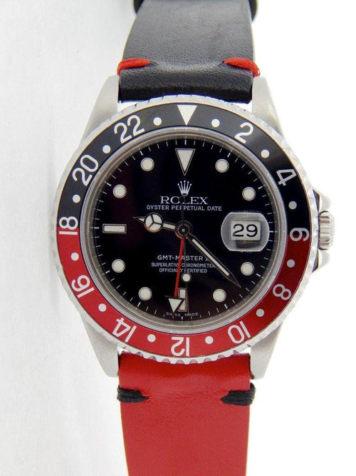 Men's Rolex Stainless Steel GMT Master II Black & Red Coke 16710 PRE-OWNED - Global Timez