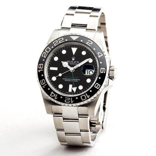 Men's Rolex GMT Master II Ref 116710 Stainless Steel With Black Ceramic PRE-OWNED - Global Timez