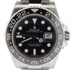 Men's Rolex Stainless Steel GMT Master II Black 116710 PRE-OWNED