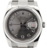 Men's Rolex Stainless Steel Datejust Silver Arabic 116200 PRE-OWNED