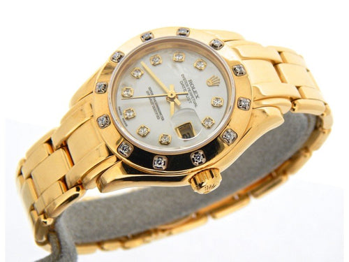 Ladies Rolex Datejust Pearlmaster 69318 26mm Watch PRE-OWNED