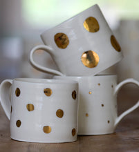 Load image into Gallery viewer, Gold Lustre cup with medium spots