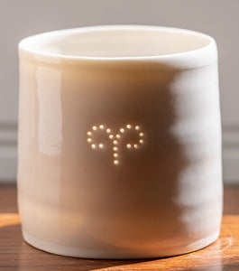 Aries porcelain tealight holder