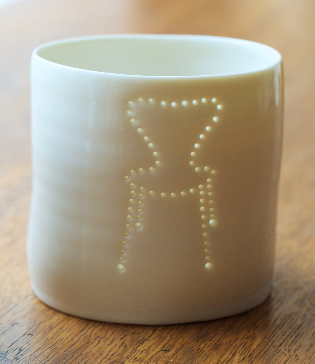 Arne Jacobsen Chair mini porcelain tealight holder