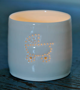 Baby carriage mini tealight holder