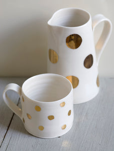 Gold Lustre cup with medium spots