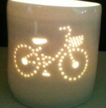 Load image into Gallery viewer, Girl's Bike mini tealight holder