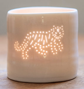 Tiger mini tealight holder