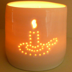 Candle mini porcelain tealight holder
