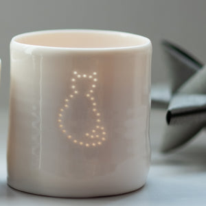 Cat mini tealight holder