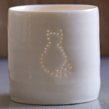 Load image into Gallery viewer, Cat mini porcelain tealight holder