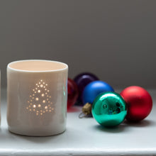 Load image into Gallery viewer, Christmas Tree mini porcelain tealight holder