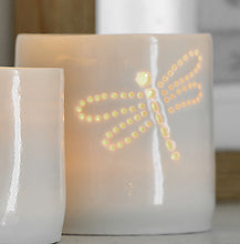 Load image into Gallery viewer, Dragonfly mini porcelain tealight holder