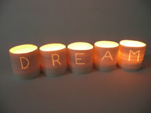 Load image into Gallery viewer, Dream letter minis tealight holder set