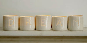 Dream letter minis tealight holder set