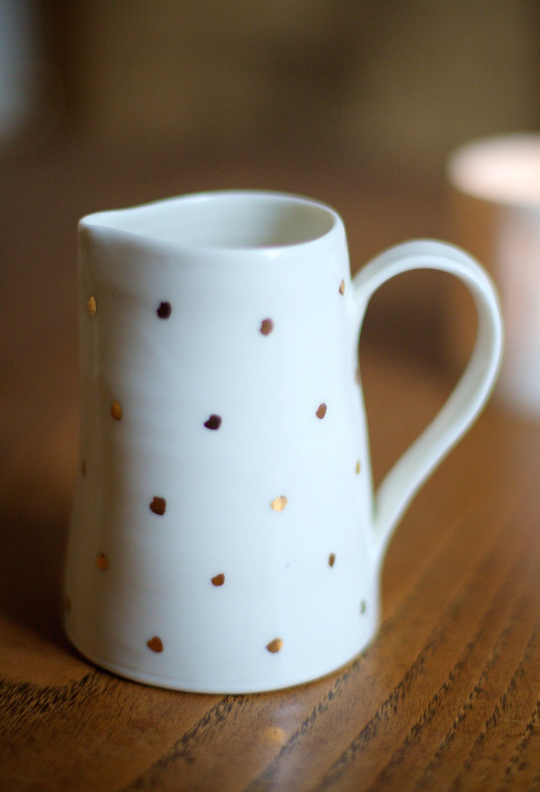 Gold Lustre small jug with small spots