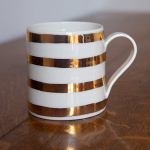Gold Lustre mug with stripes