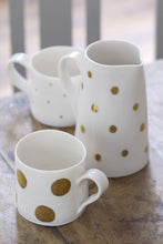 Load image into Gallery viewer, Gold Lustre small jug with medium spots