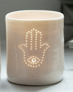 Hamsa mini tealight holder