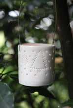 Load image into Gallery viewer, Snowy Forest hanging mini tealight holder