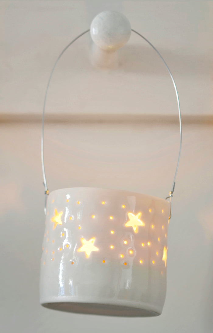 Stars hanging mini tealight holder