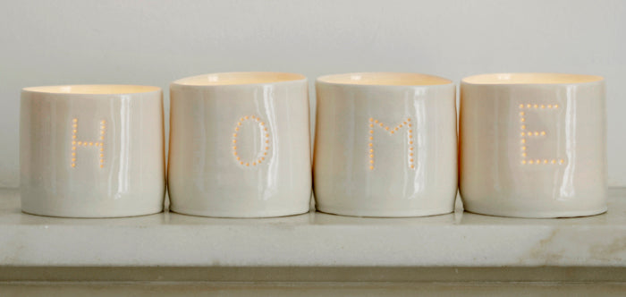 Home letter minis tealight holder set