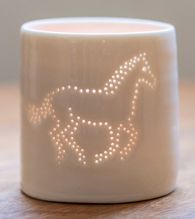 Horse mini porcelain tealight holder