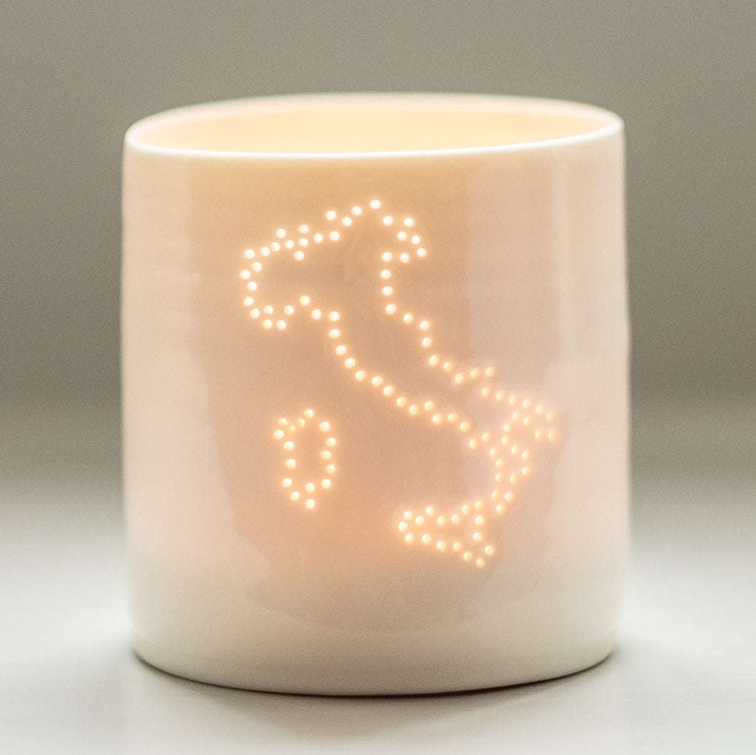 Italy mini porcelain tealight holder