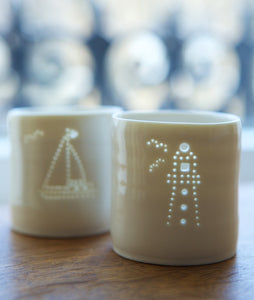 Lighthouse mini tealight holder