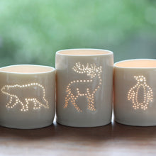 Load image into Gallery viewer, Stag mini porcelain tealight holder