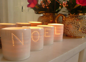 Noel letter minis tealight holder set