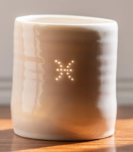 Pisces mini porcelain tealight holder