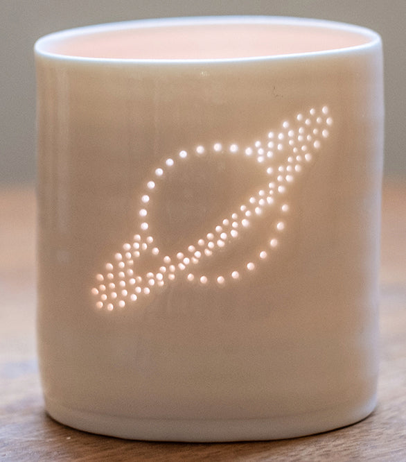 Saturn mini tealight holder