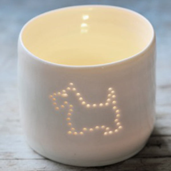 Scottie Dog mini tealight holder