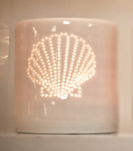 Fan Shell mini tealight holder