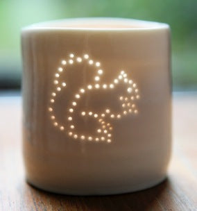 Squirrel mini tealight holder