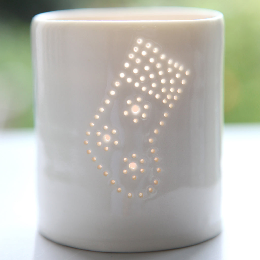 Stocking mini tealight holder