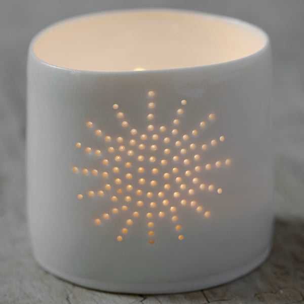 Sun mini porcelain tealight holder