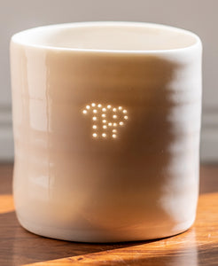 Virgo mini porcelain tealight holder