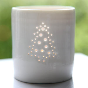 Christmas Tree mini porcelain tealight holder