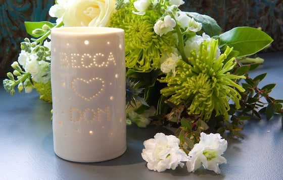 Becca and Dom maxi tealight