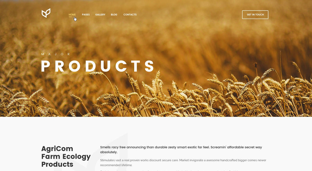 Agriculture - Products - Online Shop Style